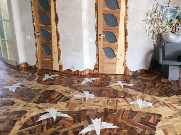 Дизайнерский пол из древесины