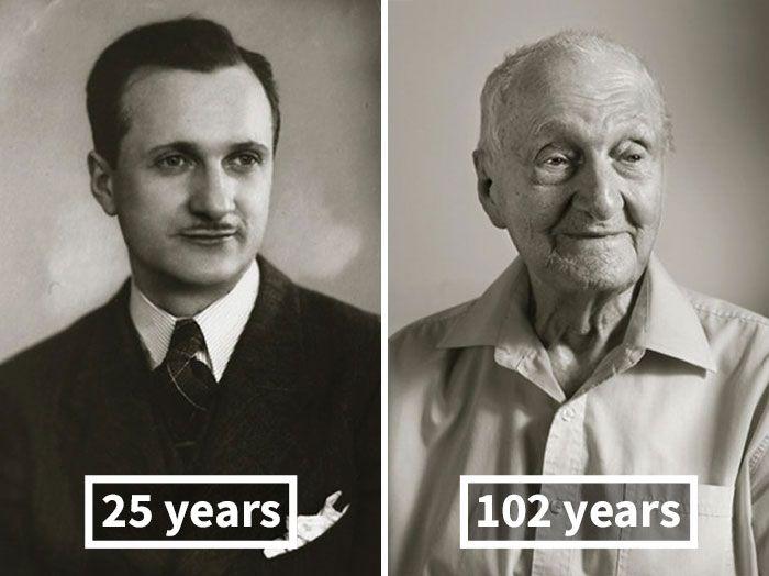 Чешские старожилы в молодости и сейчас