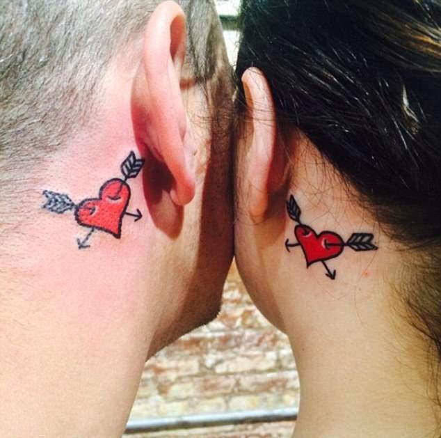 Классные парные татуировки молодоженов