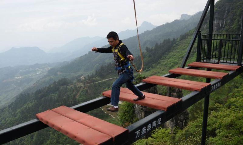 Китайский мост для любителей очень острых ощущений