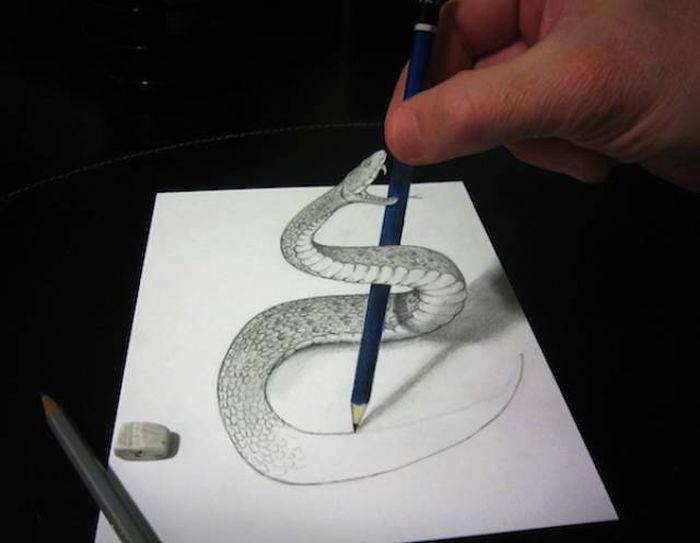 Удивительные объемные рисунки на бумаге
