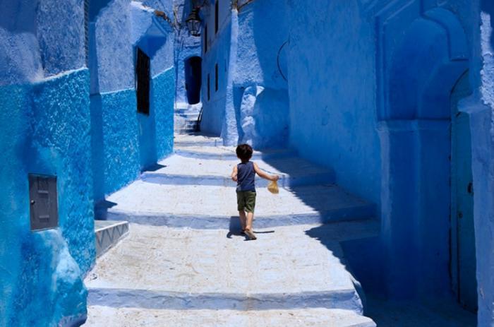 Синий городок Шефшауен в Марокко