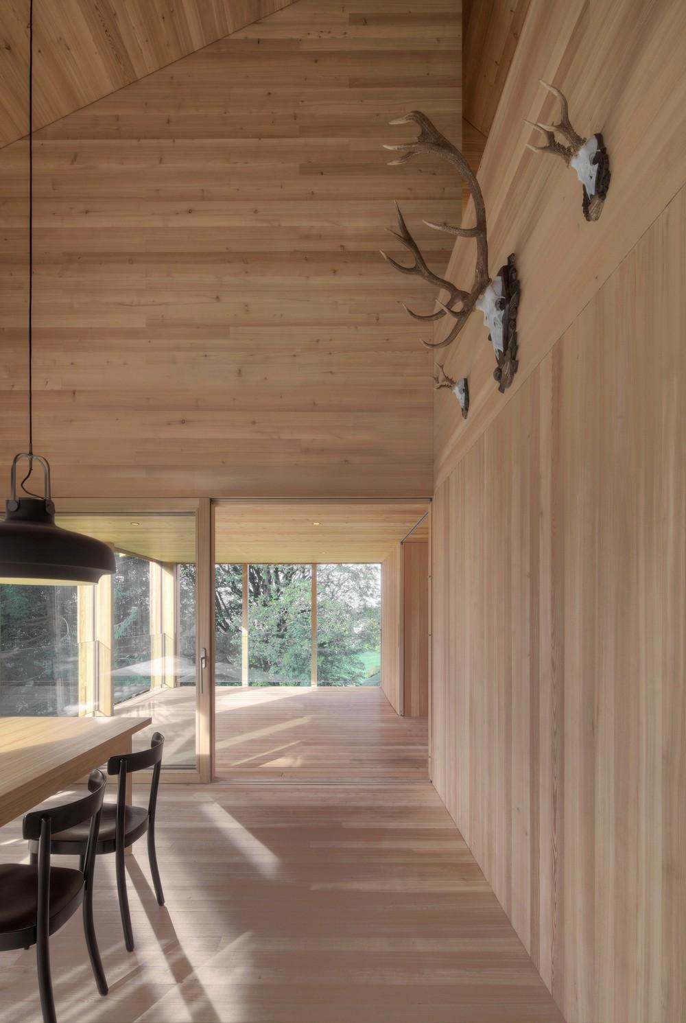 Загородный дом из лиственницы в Австрии