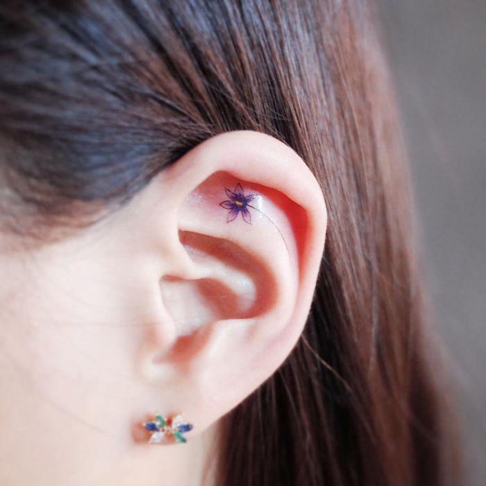 Микроскопические изящные татуировки, которые не заметит даже твоя мама