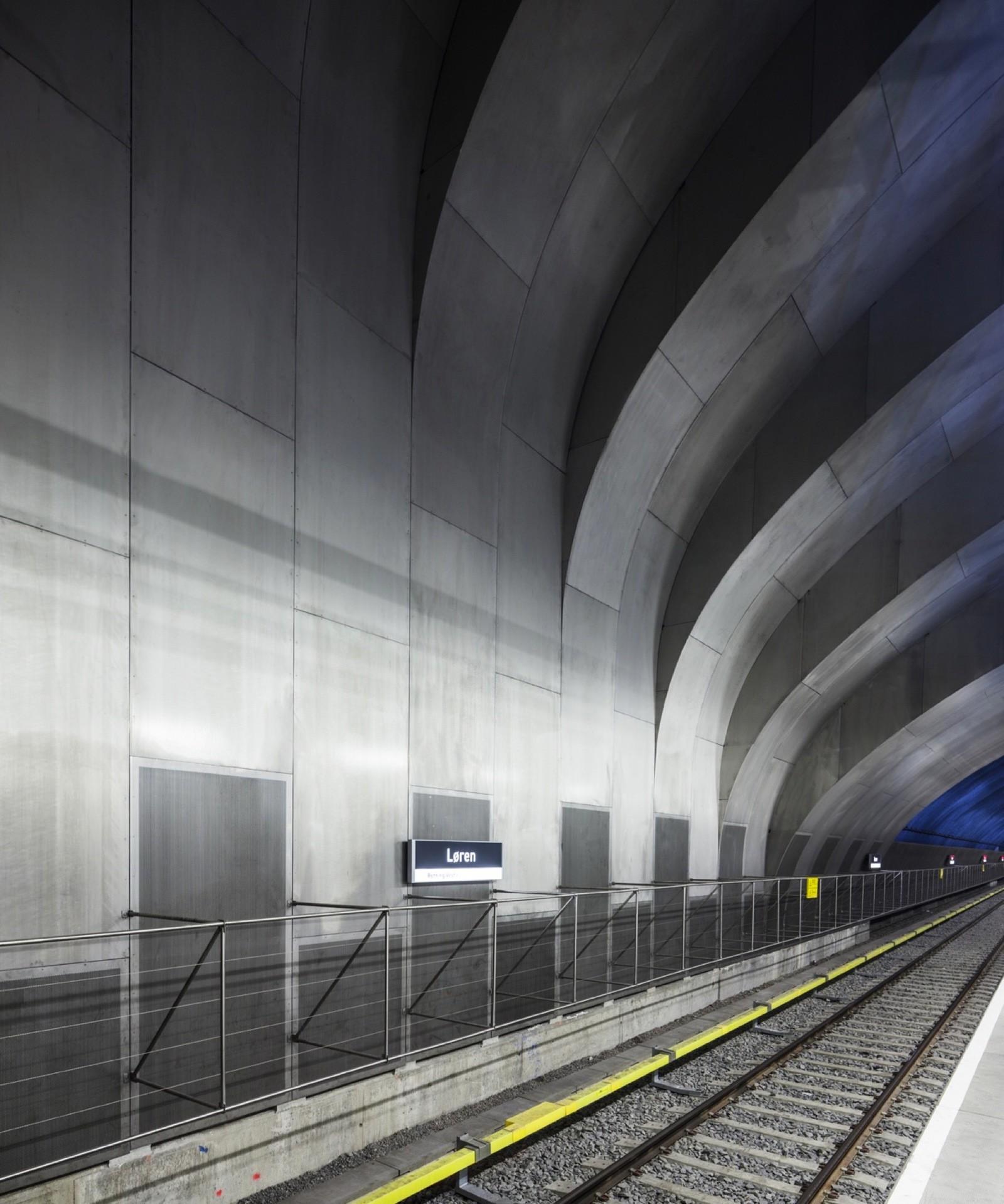 Индустриальный дизайн станции метро в Осло