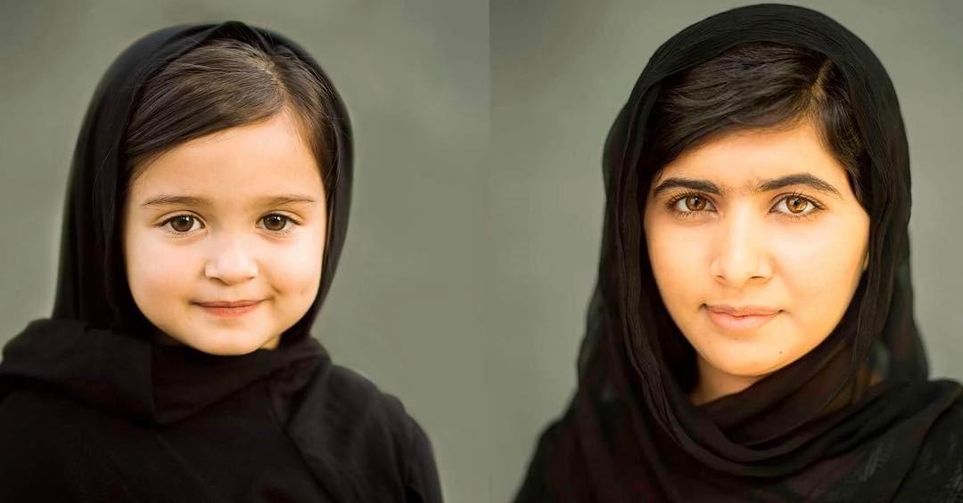 Трехлетняя девочка перевоплощается в выдающихся женщин