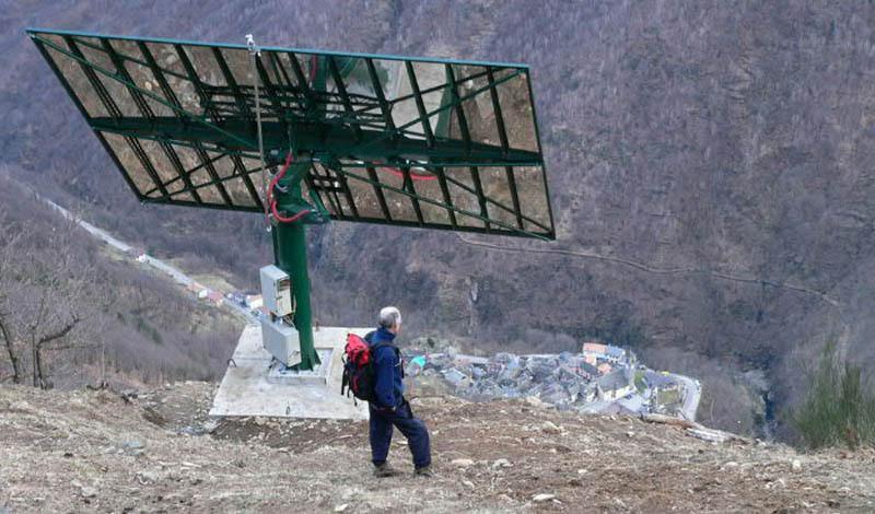 Гигантское зеркало заменяет итальянской деревушке Солнце