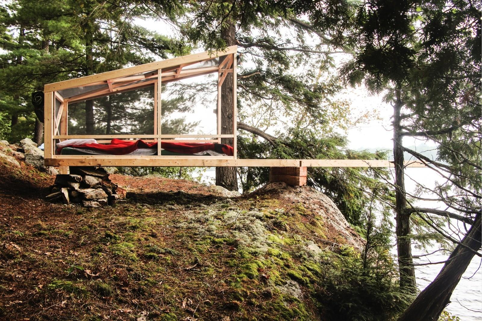 Современная стационарная хижина-палатка