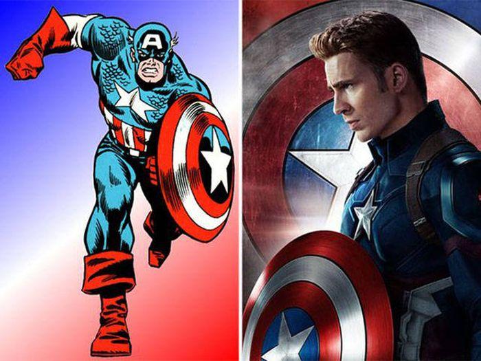 Персонажи комиксов в фильмах и мультфильмах