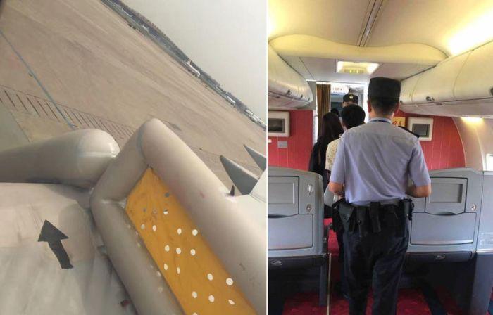 В Китае любопытная женщина открыла аварийный выход самолета