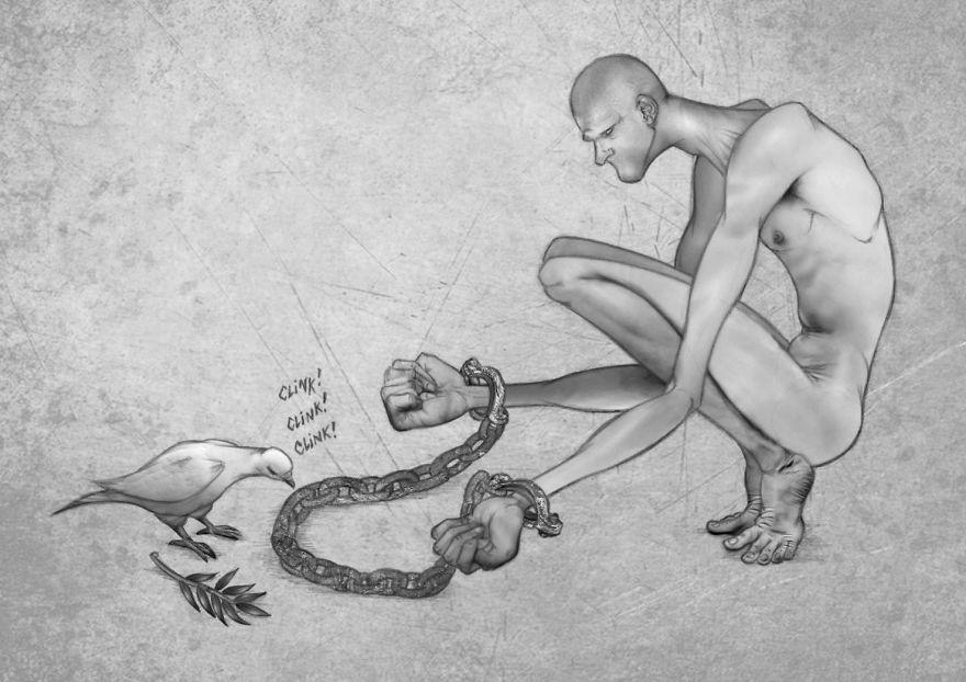Иллюстрации о современном обществе от Аль Маргена