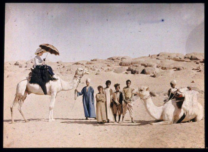 Одни из первых цветных снимков