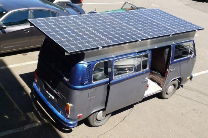 Электрический фургончик Volkswagen 1972 года