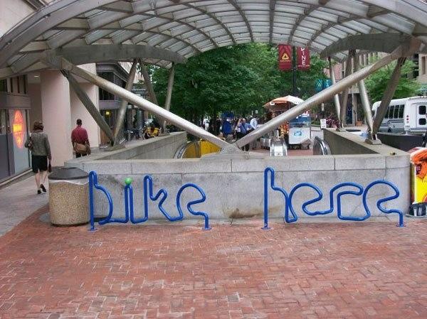 Креативные велосипедные парковки