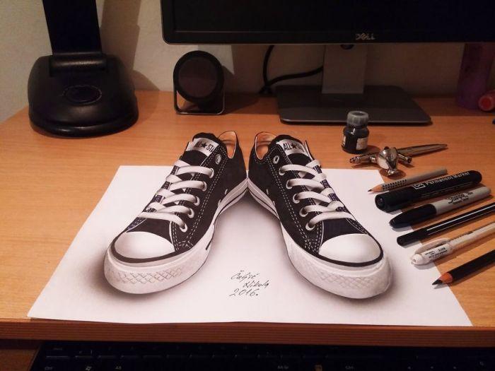 Трехмерные рисунки от Николы Кулича