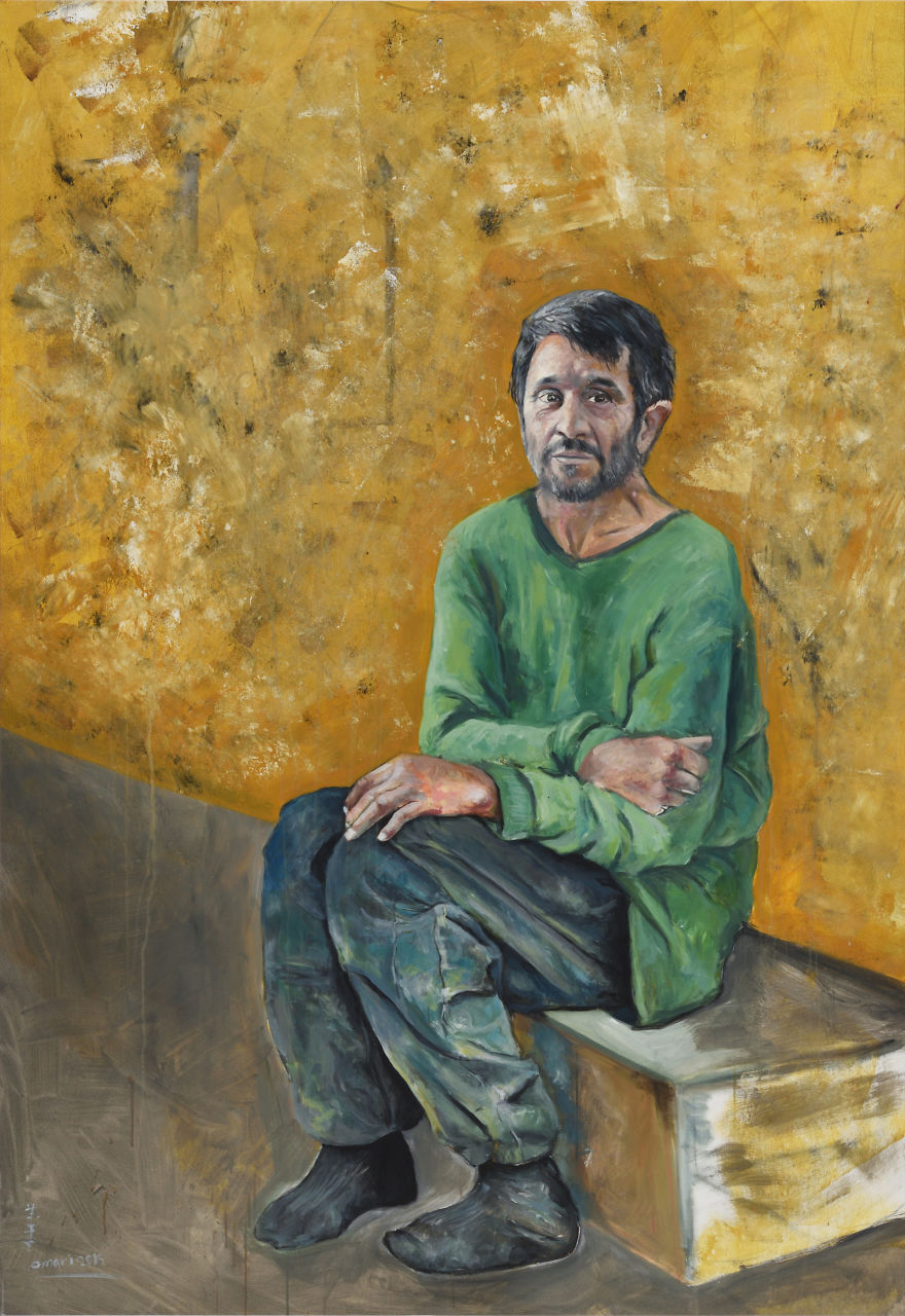 Сирийский художник представил мировых лидеров в образе беженцев