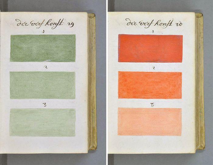 Докладний довідник кольорів і відтінків 1692 року