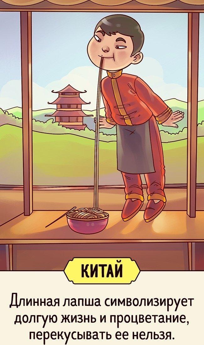 Приметы и суеверия разных стран в картинках