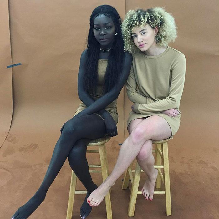 Нуаким Гатвеч - модель с очень темным цветом кожи