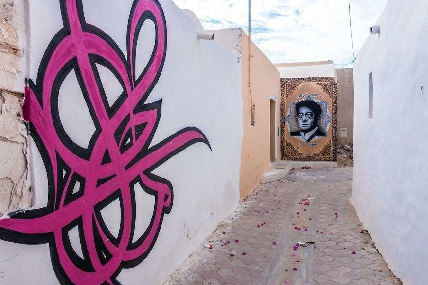 Тунисская деревня Эрриад, превращённая в стрит-арт галерею