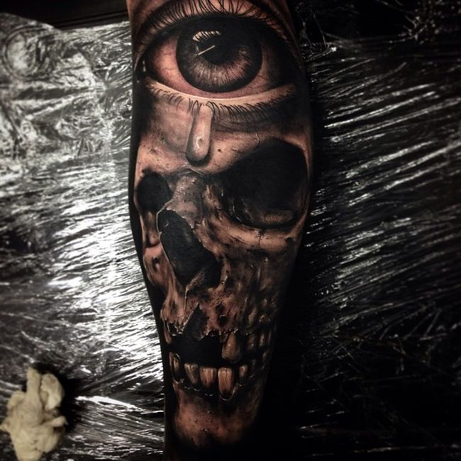 Реалистичные татуировки от Дрю Апиктура