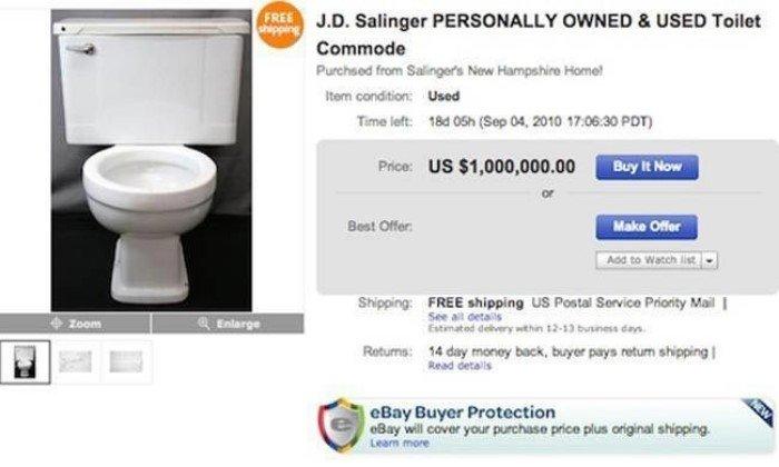 Безумные вещи знаменитостей, проданных на аукционе eBay