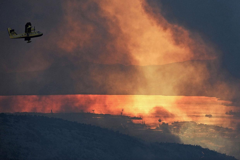 Европейские лесные пожары лета 2017