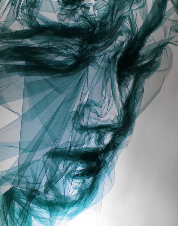 Удивительные женские портреты из тюли