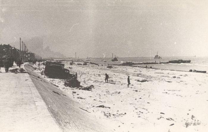 Французский город Дюнкерк после эвакуации 1940 года