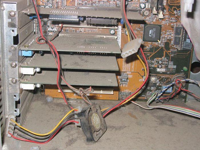 Пыльные компьютеры: затянули с чисткой