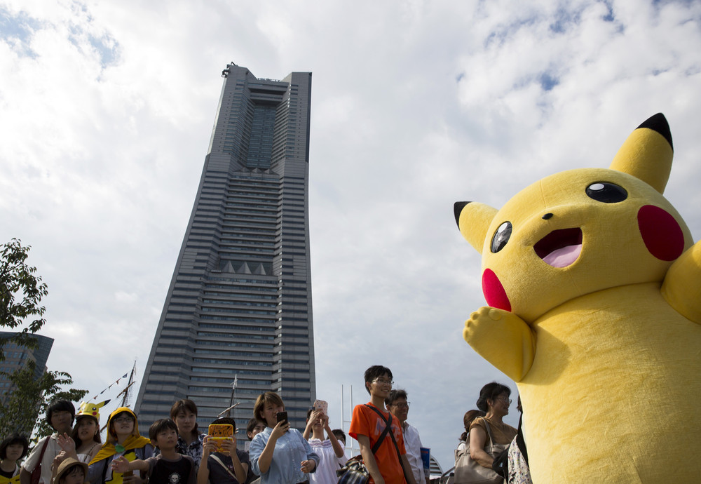 1500 Пикачу на улицах в Йокогаме