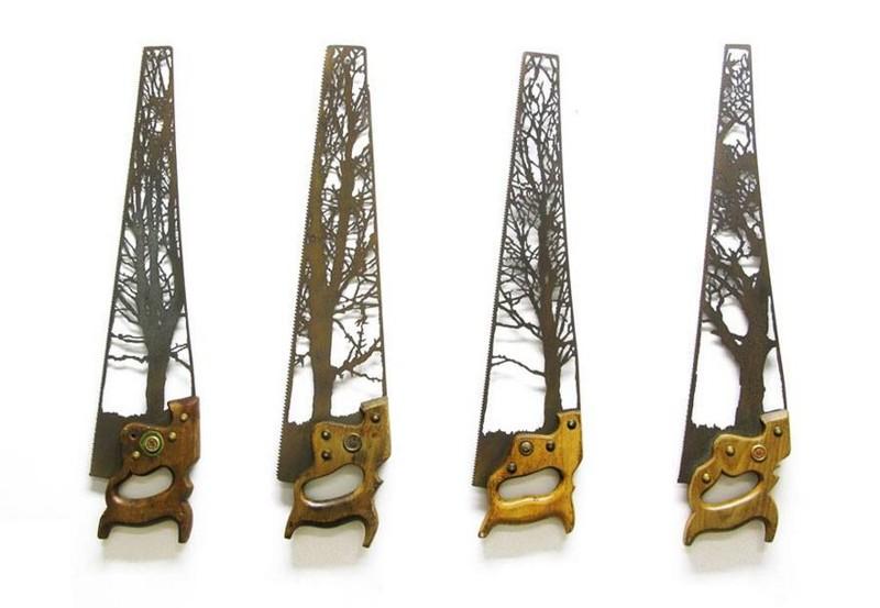 Природные скульптуры из металлолома от Дэна Ролингса