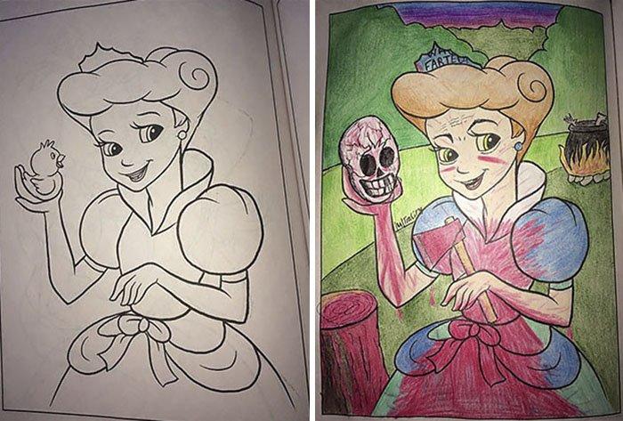 Когда взрослые берут в руки раскраску для детей