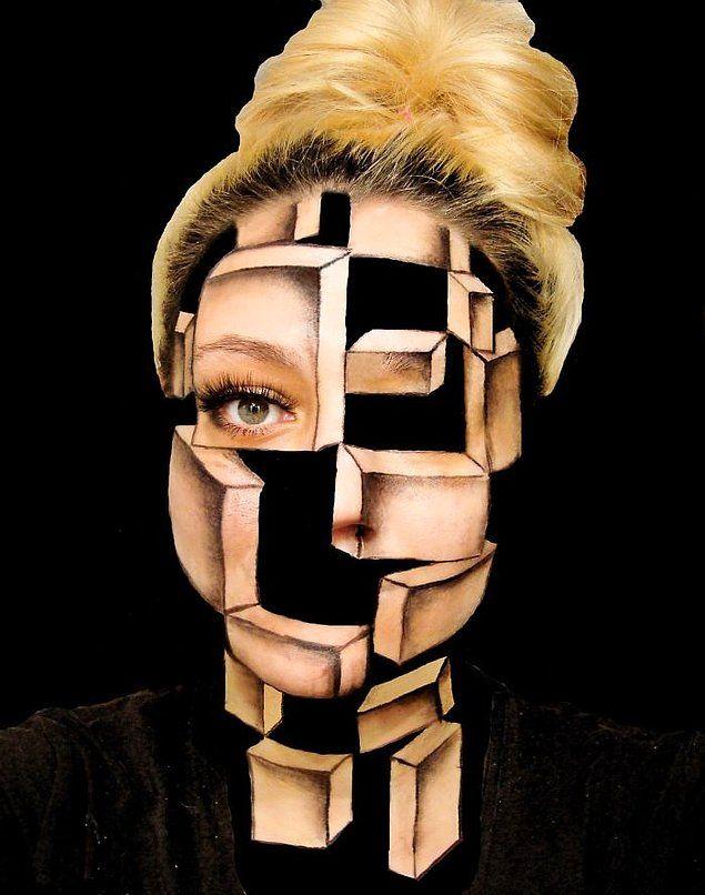 Хорватская художница рисует сумасшедшие иллюзии на своем лице