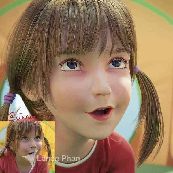 Художник превращает людей в удивительных 3D-персонажей