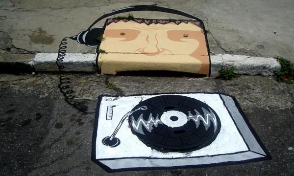 Веселый проект уличных художников 6emeia