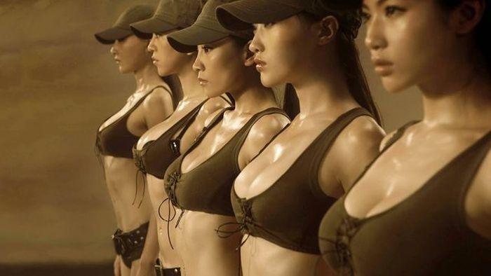 Девушки армии Китая