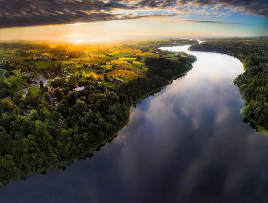 Литва с высоты птичьего полета