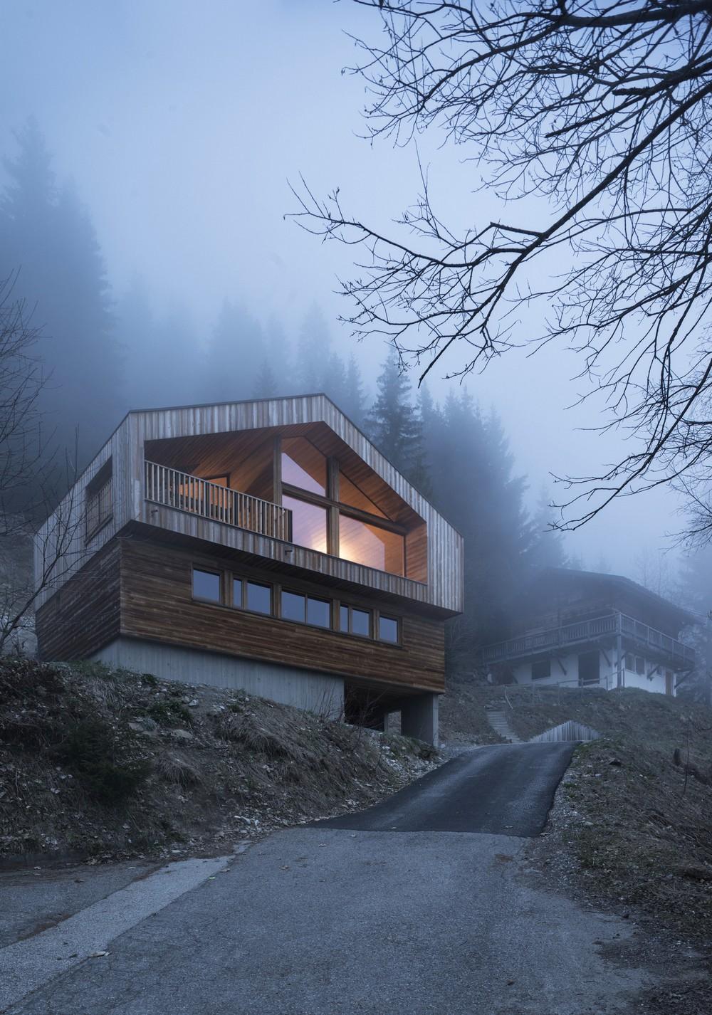 Шале в горах Франции
