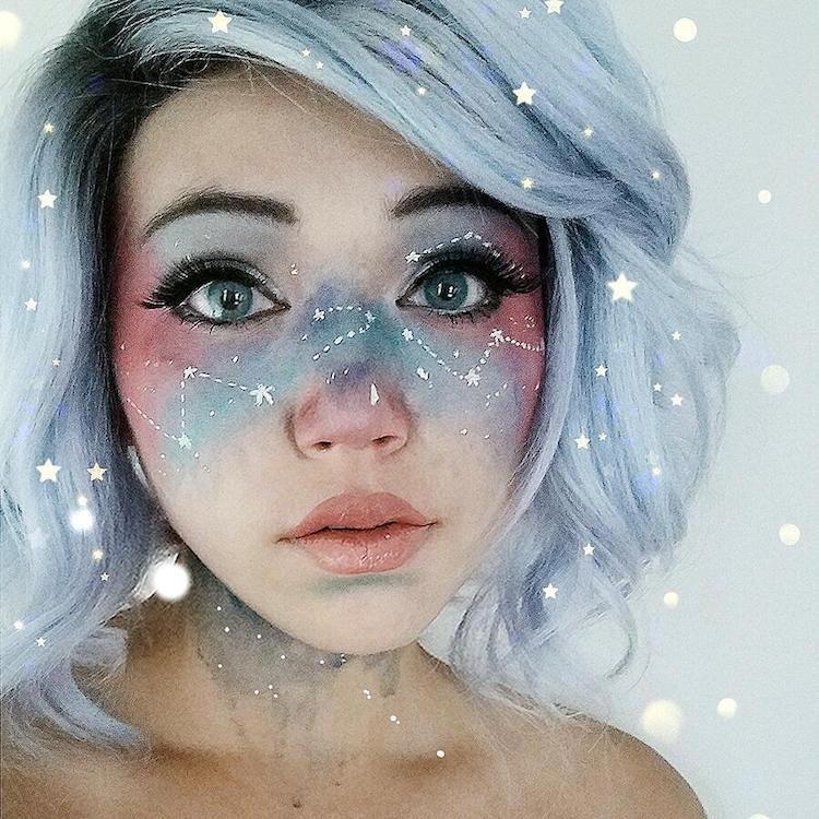 Галактический макияж - новый модный тренд
