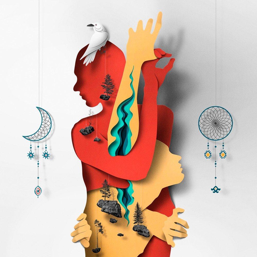 Бумажные иллюстрации от художника Эйко Оялы