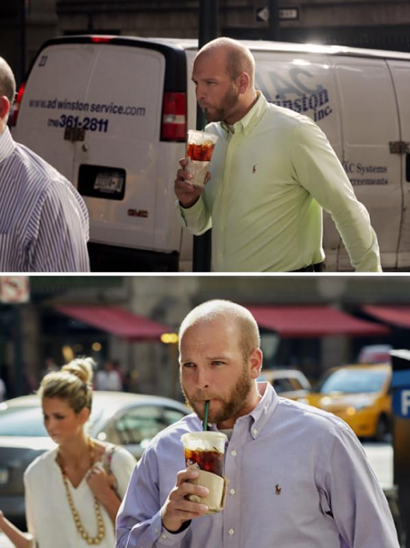 Датский фотограф 9 лет снимал одних и тех же людей, идущих на работу