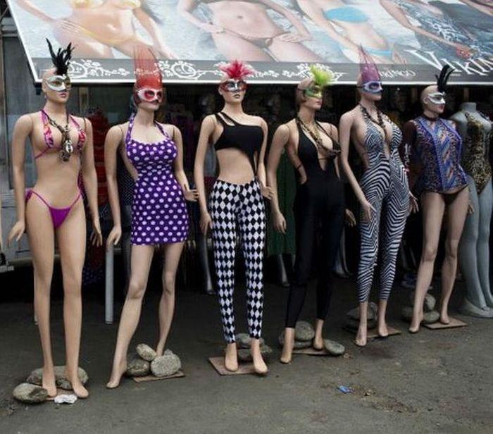 Необычные манекены Венесуэлы