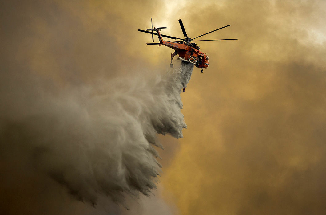 Фотопроект о лесных пожарах в США