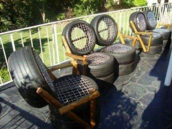 Невероятные вещи, которые можно сделать из старых шин