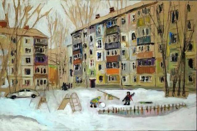 Российские хрущевки в картинах Ильгиза Гимранова