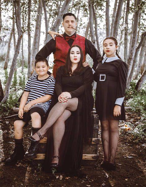 Годные перевоплощения целых семей на хэллоуин