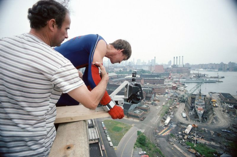 На съемках Человека-паука 1977 года