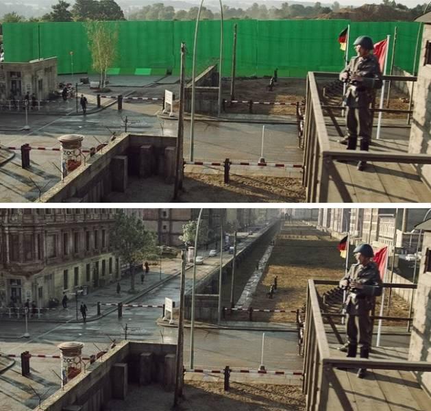 Кадры известных фильмов до и после спецэффектов