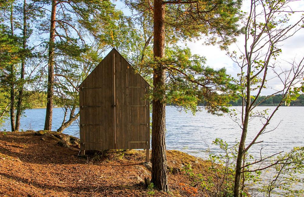 Стеклянные домики на шведском острове